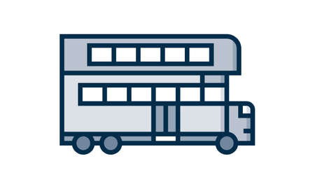 Double-decker, bus icon. Simple vector public transport icons for ui and ux, website or mobile application on white background Vector Illustratie