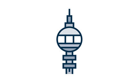 Tower icon flat style vector illustration.