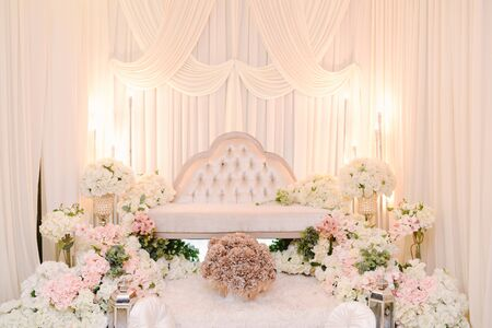 Malay Wedding, beautiful wedding decoration setup on a wedding day