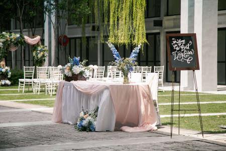 Kuala Lumpur, Malaysia - February 16, 2020: Malay Wedding, beautiful wedding decoration setup on a wedding day