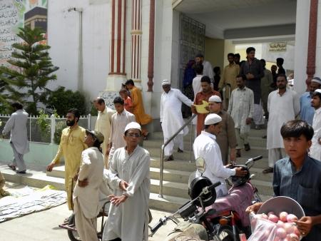 PAKISTANKARACHI_PEOPLE COMING FROM MOSK AFTER JUMMA