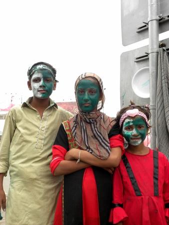 karachi pakistan_million of pakistani children celebrate independeance day in pakistan  across the pakistan  celebrate the 67th anniversary of the creation of Pakistan  here on wednesday 14 August 2013