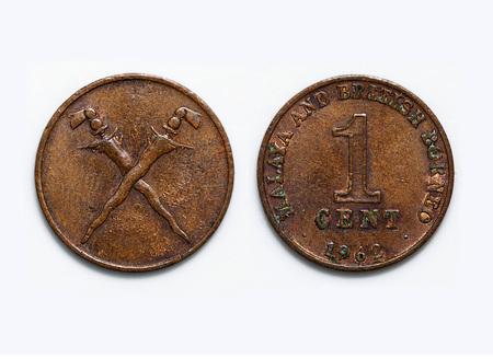 malaya: Old 1 cent malaya and british borneo coin