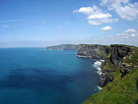 moher: The Cliffs of Moher over the Atlantic Ocean on the western seaboard of County Clare in Ireland