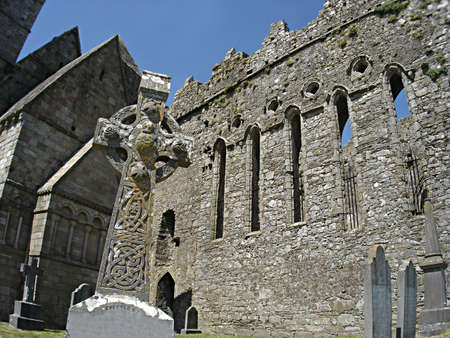 ecclesiastical: The Rock of Cashel, with its well preserved ecclesiastical remains, is one of Irelands most spectacular landmarks, rising above the surrounding plain.