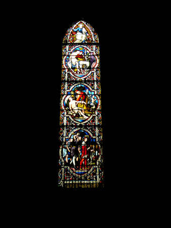 gaelic: Beautiful stained glass window found in a cathedral in Ireland