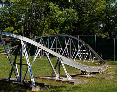 Track of an old dismantled amusement park ride
