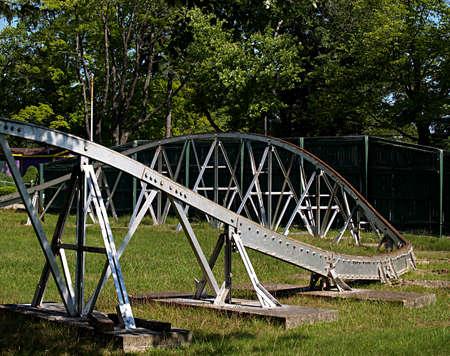 dismantled: Track of an old dismantled amusement park ride
