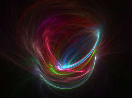 whirling: Computer generated fractal illustration of swirling electric colors
