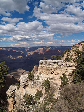 Scenic view of the Grand Canyon in Arizona photo