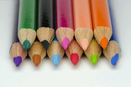 isolated: Color pencil on isolated white background