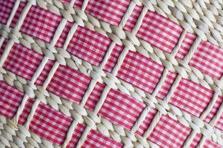 texture of rattan basket photo