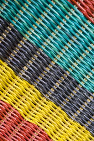 colorful of rattan texture