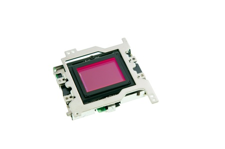 ccd: CMOS sensor  isolated on white