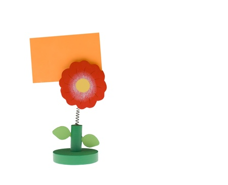 Note pad holder with empty space Stock Photo - 8341596