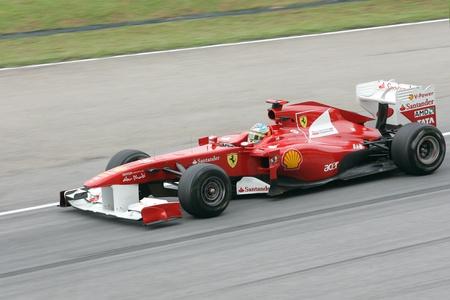 SEPANG, MALAYSIA - APRIL 8: Fernando Alonso of Ferrari Team accelerate at PETRONAS Malaysia Grand Prix on April 8, 2011 in Sepang, Malaysia. The race will be held on Sunday April 10, 2011. Editorial
