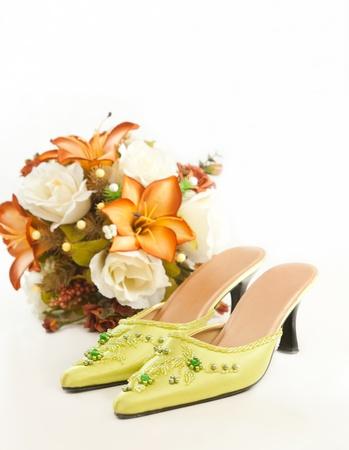 wed: Malay wedding shoes Stock Photo
