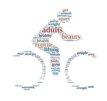 actividad fisica: Gimnasio de texto información de gráficos y el concepto de acuerdo en el fondo blanco