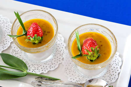 dessert made from pumpkin with strawberry Stock Photo - 12826704