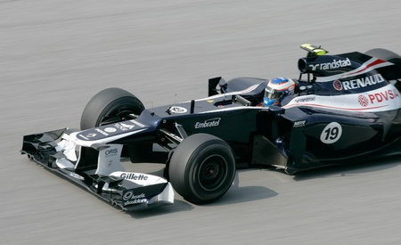 pirelli: SEPANG, MALAYSIA - March 23: Bruno Senna of Williams Team in action at PETRONAS Malaysian Grand Prix on March 23, 2012 in Sepang, Malaysia. The race will be held on Sunday March 25, 2012.