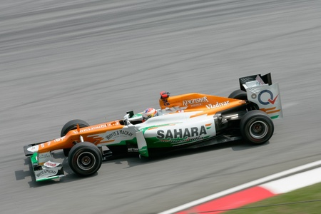 SEPANG - March 23: Paul di Resta of Sahara Force India F1 Team in action at PETRONAS Malaysian Grand Prix on March 23, 2012 in Sepang, Malaysia. The race will be held on Sunday March 25, 2012.