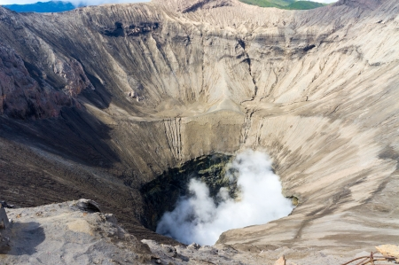 ashes: Bromo crater volcanoes taken in East Java, Indonesia