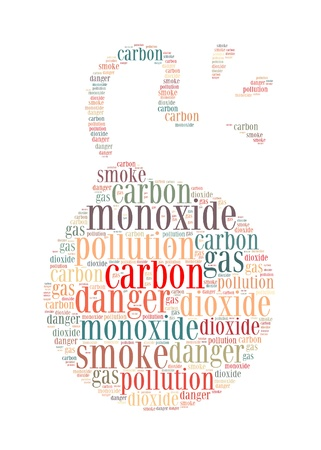Carbon Monoxide is the silent killer info-text graphics and arrangement concept on white background