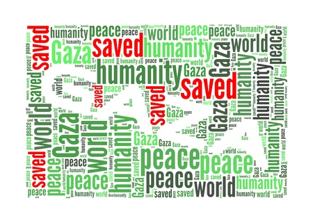 gaza: Save Gaza info-text graphics and arrangement concept on white background