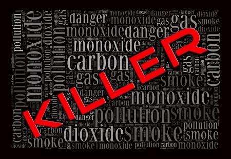 Carbon Monoxide is the killer info-text graphics and arrangement concept on black background