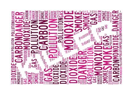 dioxido de carbono: El monóxido de carbono es el asesino de texto info-gráficos y el concepto de acuerdo en el fondo blanco