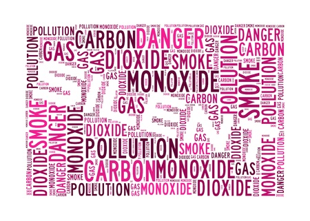 Carbon Monoxide is the killer info-text graphics and arrangement concept on white background
