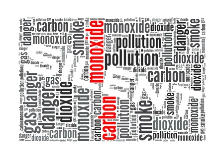 Carbon Monoxide is the killer info-text graphics and arrangement concept on white background photo