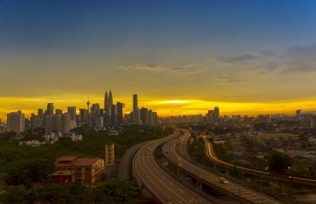 An evening skyline at Kuala Lumpur, Malaysia