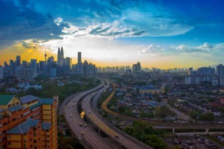 Amazing scenery of Kuala Lumpur city an evening