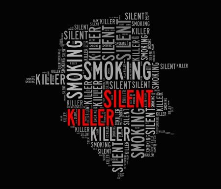 bronchiole: Smoking is silent killer info-text graphics and arrangement concept  word clouds  Stock Photo
