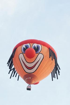 PUTRAJAYA, MALAYSIA - MARCH 30 : Hot air ballon flies at the 5th Putrajaya International Hot Air Balloon Fiesta on March 30, 2013 in Putrajaya, Malaysia.