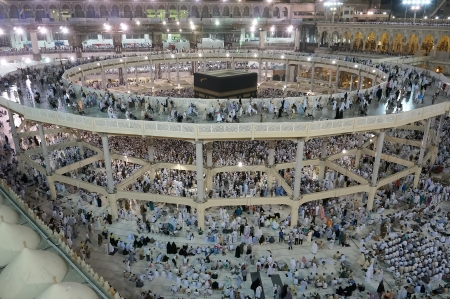 MECCA,S ARABIA-OCT 7 New Mataf surrounding the kaabah is allocated to the pilgrims who are elderly and wheelchair-bound in Oct 7,2013 in Makkah  It is a temporary within expansion of Masjidil Haram
