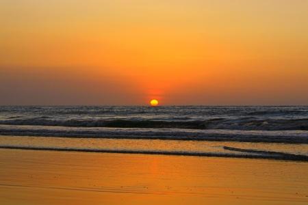 Sunset scenary at Dalit Beach Tuaran Sabah