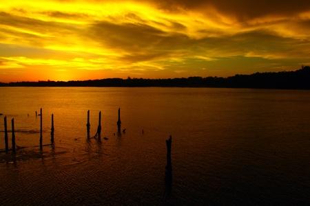 Landscape of sunset view at Salut, Tuaran, Sabah, Malaysia