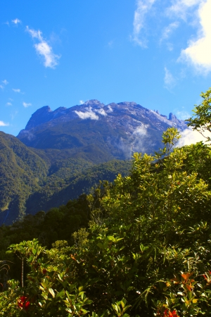 Landscape view of Mount Kinabalu, Kundasang, Sabah, Malaysia Stock Photo
