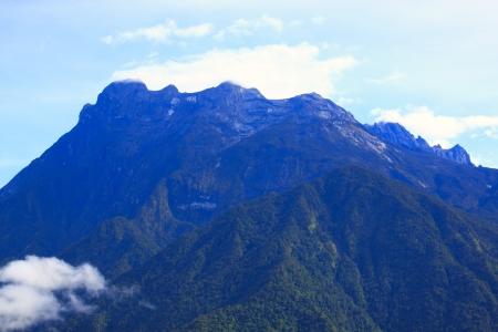 sabah: Landscape view of Mount Kinabalu, Kundasang, Sabah, Malaysia Stock Photo