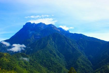 Landscape view of Mount Kinabalu, Kundasang, Sabah, Malaysia photo