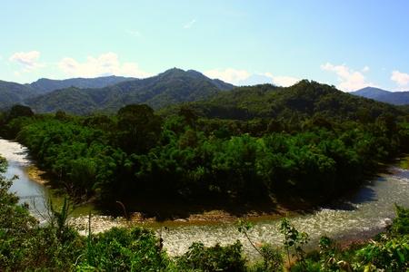 Landscape view of Kiulu River at Kiulu, Tuaran, Sabah, Malaysia photo