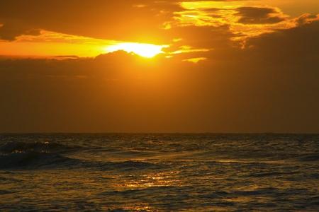 Sunset view at Dalit Beach, Tuaran, Sabah, Malaysia