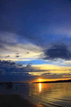 tuaran: Sunset view at Sulaman Village, Tuaran, Sabah, Malaysia