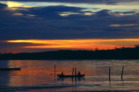 Sunset view at Sulaman Village, Tuaran, Sabah, Malaysia