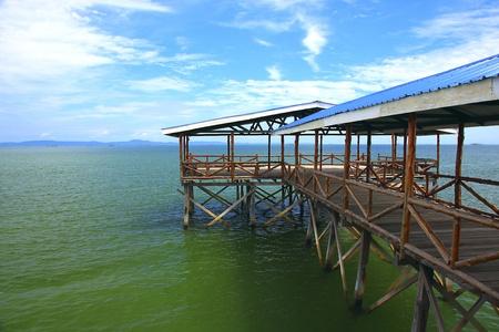 Seascape view at Bengkoka Square, Pitas, Sabah, Malaysia photo