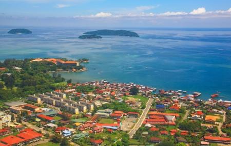 sabah: Aerial view of Kota Kinabalu City, Sabah, Malaysia