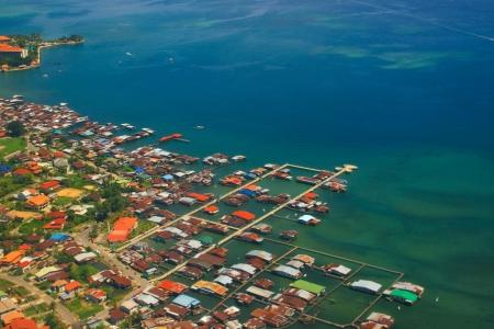 Aerial view of Kota Kinabalu City, Sabah, Malaysia photo