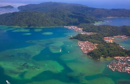 gaya: Aerial view of Gaya Island, Sabah, Malaysia